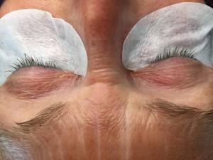 Wimpern verlängert - Vorher Fotos
