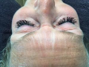 Wimpern verlängert - Nachher Fotos