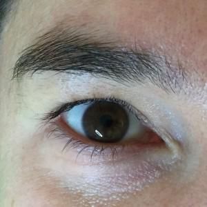 Wimpernverlängerung Vorher